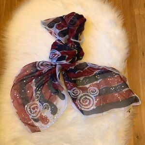 Disney Parks scarf with Mickey & Sequins